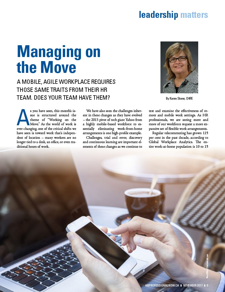 HR Professional - November 2017 - Page 7